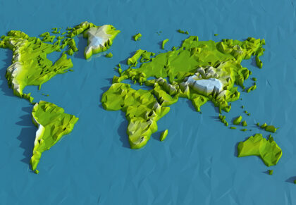 Low Poly World Map